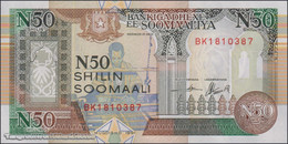 TWN - SOMALIA R2b - 50 N-Shilin Soomaal 1991 Prefix BK UNC - Somalia