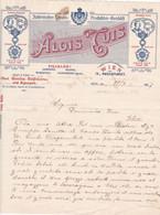 """Fattura Comm.  -  Wien , Italienisches Landes-Produckten  """" Alois Tuis """" -  Formato  Cm. 22,5 X 28,3 - Austria"""