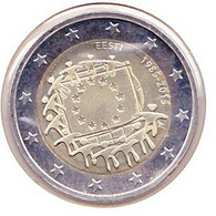 2 Euros Commémoratif 2015 : Etonie (drapeaux) - Estonia