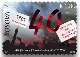 Kosovo Stamps 2021. 40th Anniv. Of The 1981 Demonstrations. Set MNH - Kosovo