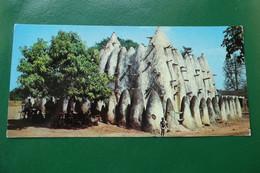 C13/ HAUTE VOLTA BURKINA FASO AFRIQUE MOSQUEE TRES ANCIENNE DE STYLE SOUDANAIS  DIMENSION CARTE 20.5 X 10 - Burkina Faso