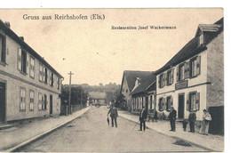CPA   GRUSS  AUS  REICHSHOFEN   Restauration Josef Wackermann  N° 3608 - Other Municipalities