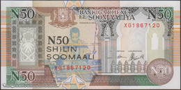 TWN - SOMALIA R2c - 50 N-Shilin Soomaal 1991 Prefix XG - Unauthorized UNC - Somalia