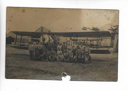 Aviation MAYENCE Allemagne Carte Photo Avion Soldats 'troupes Françaises D'occupation) 1922     ...G - 1919-1938: Between Wars
