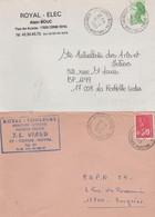 17 CORME-ROYAL  2 ENVELOPPES A EN-TÊTE PUBLICITAIRE - 1950 - ...
