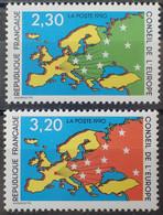 R1507/266 - 1990 - TIMBRES DE SERVICE - CONSEIL DE L'EUROPE - SERIE COMPLETE - N°104 à 105 NEUFS** - Nuovi