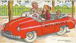CPA ILLUSTRATEUR CHAPERON VOITURE AUTO ECOLE OURS FANTAISIE - Chaperon, Jean