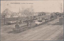 Chateauroux , Train En Gare , Vue Intérieure , Animée - Chateauroux