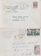 17  BOURGNEUF  2 ENVELOPPES A EN-TÊTE PUBLICITAIRE - 1950 - ...