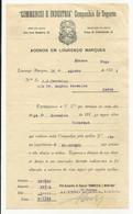 Lourenço Marques Moçambique 1921 ''Commercio E Industria'' Companhia De Seguros - Portugal