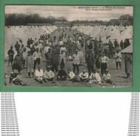 C.P.A  DE MORTAGNE (ORNE) -- LA CHAMP DE COURSE -- 1915 . CAMP D'INSTRUCTION   ----  ANIMEE ---- - Mortagne Au Perche