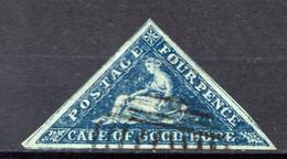 """CAP DE BONNE ESPERANCE (Colonie Britannique) -1855-63 - N° 4 - 4 P. Bleu - (""""Espérance"""", Allégorie) - Kap Der Guten Hoffnung (1853-1904)"""