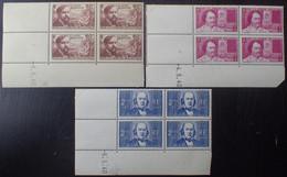 R1507/270 - 1940 - AU PROFIT DES CHOMEURS INTELLECTUELS - N°462 à 464 NEUFS** CdF Avec CD - 1940-1949