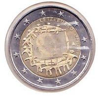 2 Euros Commémoratif 2015 : Luxembourg (drapeaux) - Luxembourg