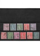 1793 LOT De 11 Semeuse Lignée YT 197-198-199-200-201-202-203-204-205-234-161 Oblitérés - Used Stamps
