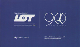 POLAND 2019 Souvenir Booklet / Polish Airlines LOT, Airplane, Flying, Plane, Aeroplane, Transport / With Stamp MNH**FV - Boekjes