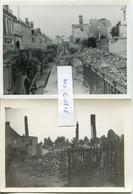 Ardennes. CHATEAU-PORCIEN. 1940. 2 Photos Allemandes Des Ruines - 1939-45