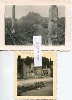 Ardennes. NOUZONVILLE. 1940. 2 Photos Allemandes Des Ruines - 1939-45