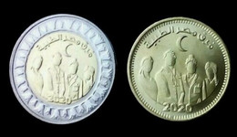 Egypt, 2020, Health Day, COVID 19, 50  Pi +1 Pound 2 Coins - Egipto