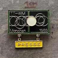 Badge Pin ZN010051 - Table Tennis (Ping Pong) World Championships München Munich 1969 PRESSE - Tennis Tavolo