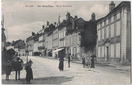 46 - SOUILLAC - CPA - Route Nationale - Souillac