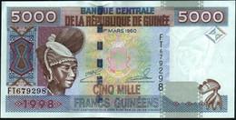 ♛ GUINEA - 5.000 Francs 1998 UNC P.38 - Guinea