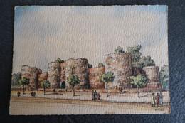 CP - PÉRONNE (80) - Le Château - Illustrateur Barday - Peronne
