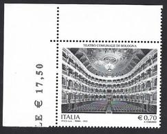 Italia 2013; Teatro Comunale Di Bologna; Francobollo Di Angolo Superiore. - 2011-...: Mint/hinged