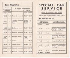 TRANSPORT AERIEN SABENA/KLM/AIR FRANCE ,BESONDERER AUTO-ZUBRINGERDIENST REF 70420 - 1900 – 1949
