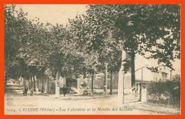 CALUIRE - Les 5 Chemins Et La Montée Des Soldats - Animée - Edit. S. FARGES - 1916 - Caluire Et Cuire