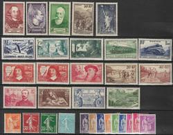 France 1937 Lot 32 Timbres Neufs ** - Années Incomplétes 330 à 371. C 178€ - Année Incompléte Manque 354, 355, 348 à 351 - ....-1939