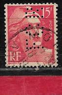 T1  Perfin France Perfore FCR 31   Sur Gandon N° 813 - Perfins