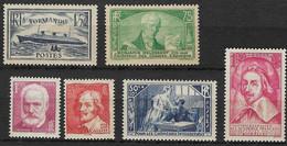 France 1935 Lot 6 Timbres Neufs ** N° Yvert 299, 303, 304, 305, 306 Et 307 - C. 222€ - Nuevos