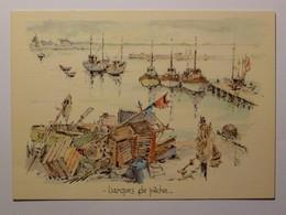 BARQUES DE PECHE - Bateau / Mer - Carte Postale D'après Aquarelle Robert Lepine - Altri