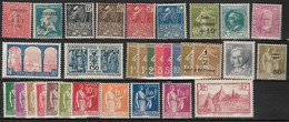 France 1930 à 1934 Lot 32 Timbres Neufs **/* Yvert 263 à 265, 270 à 275, 277A à 279B, 280 à 286, 288 à 291, 293, 295,298 - Nuevos