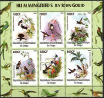 {F0204} LABEL  Birds Hummingbirds By John Gould Sheet Of 6 MNH Cinderella ! - Etichette Di Fantasia