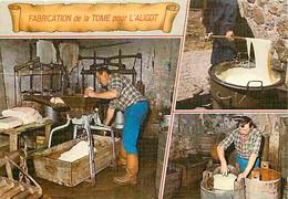 Metiers - Fromager - Fromages - Fromagerie - Fabrication De La Tome Pour L'Aligot - Multivues - Sur Les Monts D'Aubrac - - Ambachten