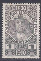 Austria 1910 Jubilee Mi#161 Mint Hinged - Ungebraucht
