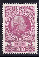 Austria 1910 Jubilee Mi#163 Mint Hinged - Ungebraucht