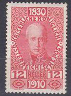 Austria 1910 Jubilee Mi#167 Mint Hinged - Ungebraucht