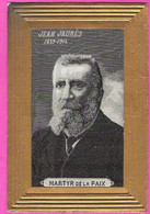 Carton De Deuil Tissé En Soie Portrait De Jean Jaurès 1859-1914 Dos Non Postal - Personnages