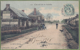 CPA - SARTHE - CIRCUIT DE LA SARTHE 1906 - LA BELLE INUTILE - DE LA TOULOUBRE EQUIPE BAYARD - Animation, Automobile, - Autres Communes