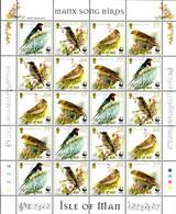 Isle Of Man 2000 MiNr. 860 - 863 WWF Birds Songbirds Music Notes M\sh MNH** 30,00 € - Nuevos