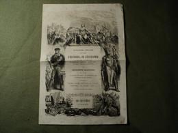 Feuille De Publicité Pour Un Dictionnaire Populaire, DELCROIX Libraire Des ANDELYS EURE 1864 ?? - Reclame