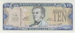 Liberia 10 Dollars 2011 P-27f UNC - Liberia
