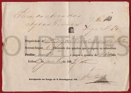 PORTUGAL - LISBOA - FATURA DE LIMPA CHAMINES - 1863 INVOICE - Portugal
