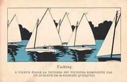 Sport Cpa Jeux Olympiques Paris 1924 Illustration Yachting Victoire Remportée Par Avaleur De Saint Raphael Quinquina - Olympic Games