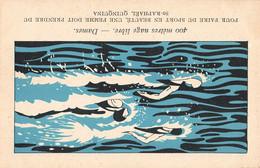 Sport Cpa Jeux Olympiques Paris 1924 Illustration Natation Dames Une Femme Doit Prendre Du Saint Raphael Quinquina - Olympic Games