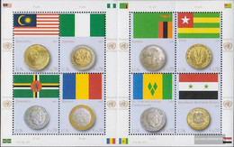UN - Vienna 798-805 Sheetlet (complete Issue) Unmounted Mint / Never Hinged 2013 Flags And Coins - Nuevos