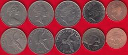 Bermuda Set Of 5 Coins: 1 - 25 Cents 1970-2017 - Bermuda